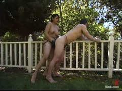 Asian Femdom Outside Part 6