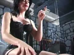 Chatty Girls Smoking and Sitting on a Bound Slaves Cock and Face
