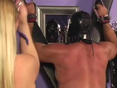 Muscle male slaves bound and tortured