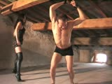Bound and Whipped Male Slave