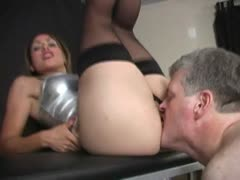 Perfect Latina Ass Getting Licked by Lucky Slave