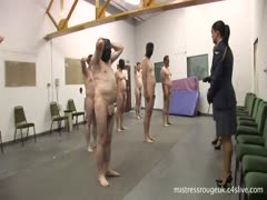 Femdom prison officers  giving punishment