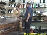 Stupid shoe store manager gets punished by an insulting brat