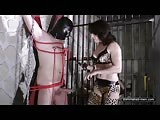 Lady Inessa giving punishment in the dungeon