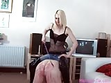 Whipped ass and trampled cock