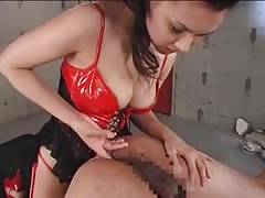 Kinky Asian domme fucking submissive ass