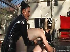 Baroness Bijou treat slave fucking his ass