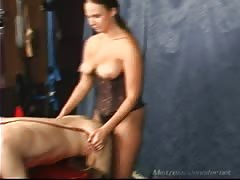 Mistress London and her strapon male slave