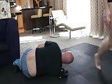 Femdom wrestling and and ball busting