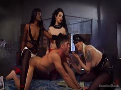 One male slave takes it hard